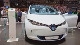 Renault Zoe auf einer Messe