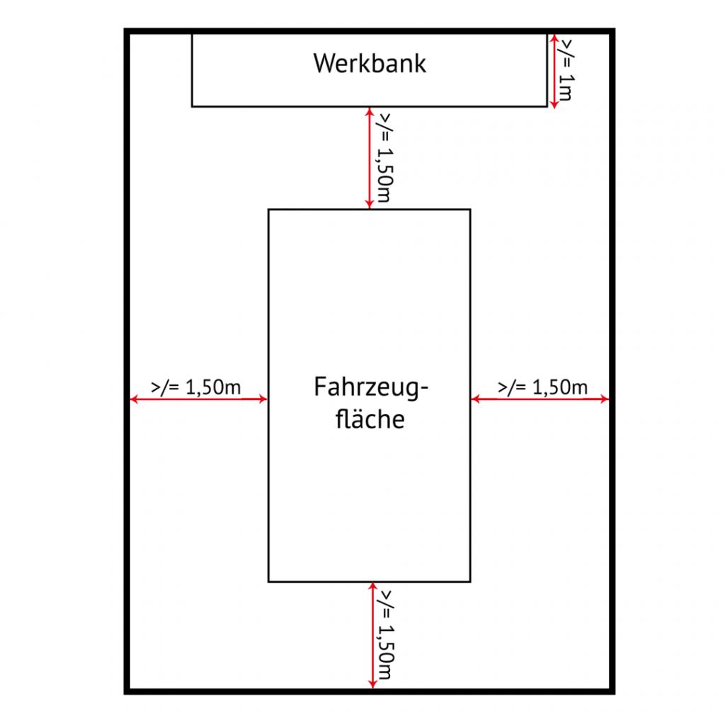 werkstattaufteilung-und-maße-1024x1024 Hobby-Autowerkstatt: Do it yourself